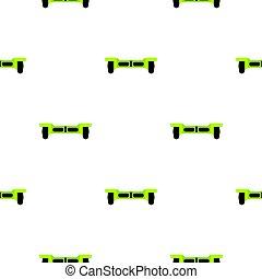 vert, hoverboard, seamless, modèle