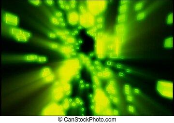 vert, illuminer, miracle