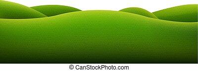 vert, isolé, paysage