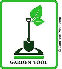 vert, jardin, signe
