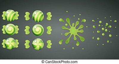 bonbons emball 9 color raies bonbons ornement raies 9 emball color. Black Bedroom Furniture Sets. Home Design Ideas
