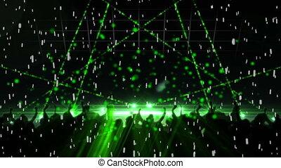 vert, laser, disco allume