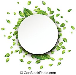 vert, leaves., carte