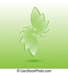 vert, leaves., nature