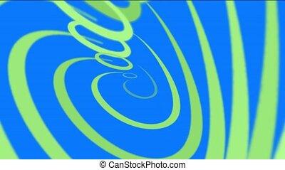 vert, lignes, spirale