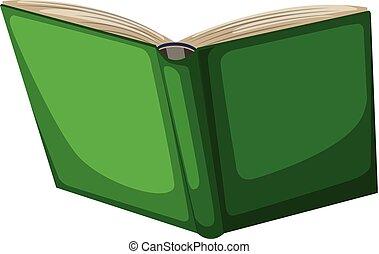 vert, livre, ouvert