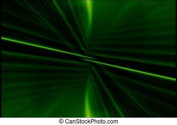 vert, lumière laser