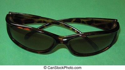 vert, lunettes soleil