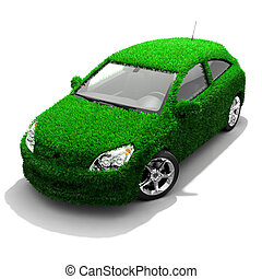 vert, métaphore, eco-amical, voiture