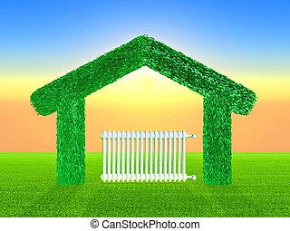 vert, maison