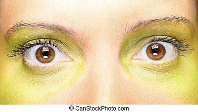 vert, maquillage