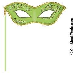 vert, masque, crosse