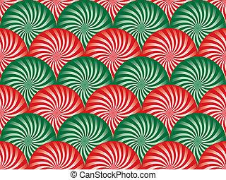 vert, menthe poivrée, fond, rouges