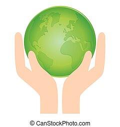 vert, mondiale, nature, conservancy, icône