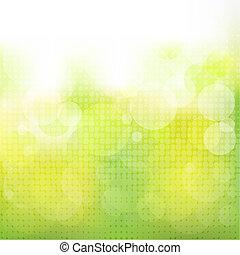 vert, naturel, fond, boke