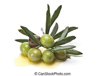 vert, olives.