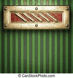 vert, or, fond