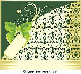 vert, ornement, arc