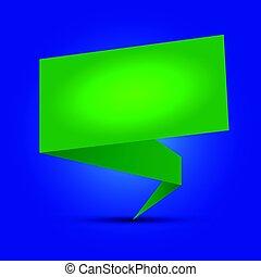 vert, parole, illustration, origami