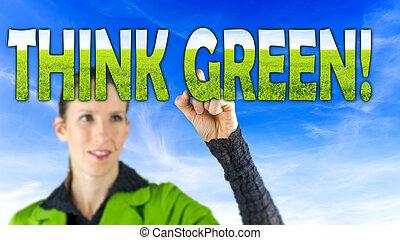 vert, penser