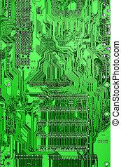 vert, planche, circuit