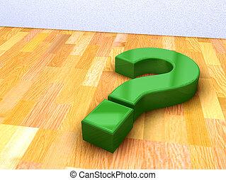 vert, point interrogation