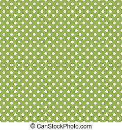 vert, polka, seamless, point, fond