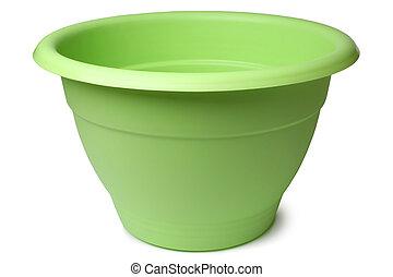 vert, pot fleurs