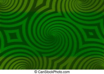 vert, psychédélique, kaléidoscope
