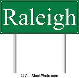 vert, raleigh, panneaux signalisations