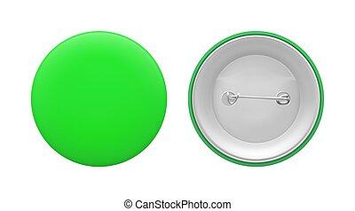 vert, rond, épingle, vide