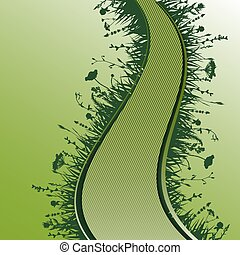 vert, route