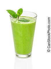 vert, smoothie, à, menthe