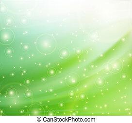 vert, soie, arrière-plans