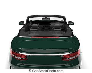 vert sombre, moderne, luxe, voiture convertible, -, arrière affichage
