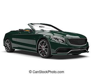 vert sombre, moderne, luxe, voiture convertible
