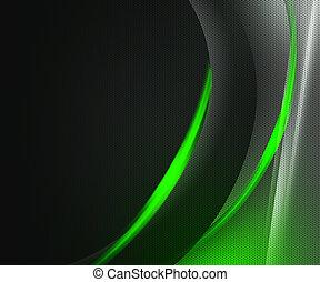 vert sombre, résumé, technologie, fond