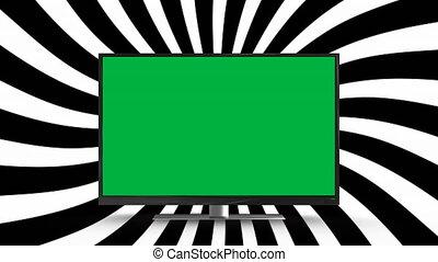 vert, tã©lã©viseur, écran plat visualisation