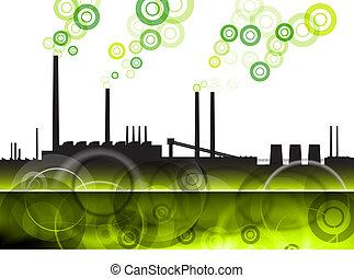 vert, usine