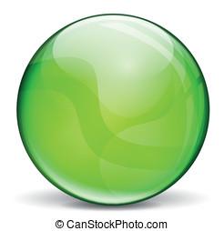 vert, vecteur, bulle, 3d