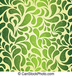 vert, vendange, papier peint