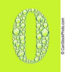 vert, zéro, bulles