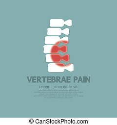 vertebre, concept., malattia, dolore