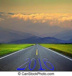 vertegenwoordigt, jaar, nieuw, 2016, veranderen, 2015-2016