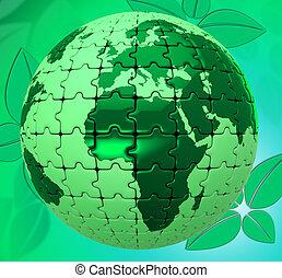 vertegenwoordigt, natuurlijke , milieu, landschap, natuur, globaal