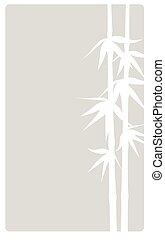 vertica, bambu, bege