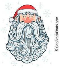 verticaal, 2, kerstman, vrolijke