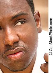 verticaal, afrikaanse amerikaan