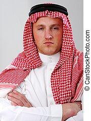 verticaal, arabische , man