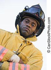 verticaal, brandweerman